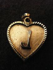 Colgante Corazón Medallón en PLATA Chapado Letra J 2 cm