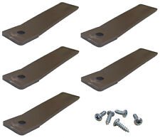 Plastic Non-Slip Drawer Stops Brown Includes Screws - Set of 5