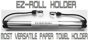 Ez-Roll Holder, Paper Towel holder for Camping, Cars, RV, Outdoors, Indoors use