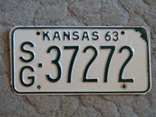 ANTIQUE 1963 KANSAS LICENSE TAG/PLATE - #37272