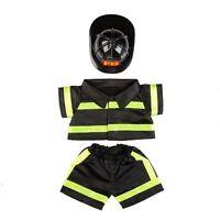 "Teddy Bear Fireman Outfit  w/ Helmet CLOTHES Fit 14""-18"" Build-a-bear !!NEW!!"