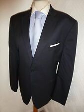 MENS TED BAKER ELEVATED NAVY SUMMER PROM WOOL SUIT JACKET 40 R WAIST 34 LEG 26.5