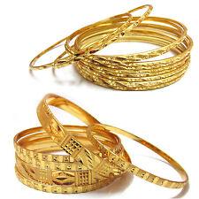 2 set  Beautiful fancy  design gold plated 6 pc  & 12 pc bangle set  (size 2.6)