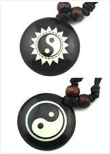 Tibetischen stil halskette mit yin ying yang-zeichen,hemp schnur,