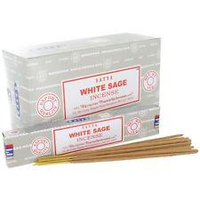 Lot of 12 Box Original Nag Champa WHITE SAGE Incense Stick: 12 x 15gr = 180gr