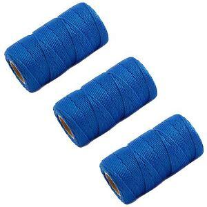 3 X Blue 70M Builders Building Brick Laying Measuring Masonry Rope String Line