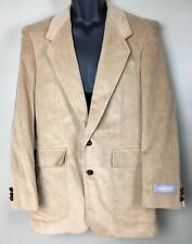 VINTAGE JORDACHE MENS CORDUROY BLAZER SPORTS COAT SUIT JACKET RETRO 38 REG TAN