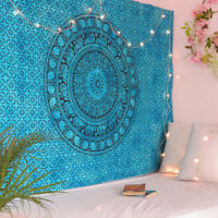 Tapestry Mandala Twin Wall Indian Hanging Teal Ombre Bohemian Mandala Home Decor