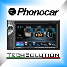 "Phonocar VM057 Autoradio Monitor 6,2"" Bluetooth USB GPS DVD Touch SD Navi"