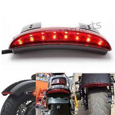UNIVERSAL MOTORCYCLE BIKE LED STOP BRAKE LICENSE PLATE REAR TAIL LIGHT RED LEN