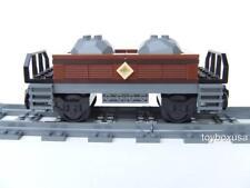* New * Custom Built Train Car Built w/ New Lego Bricks ( Emerald Night 10194 )