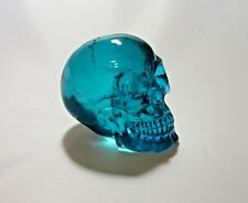 "Clear Acylic Resin Human Skull Figurine 2"" Choose from 4 colors"