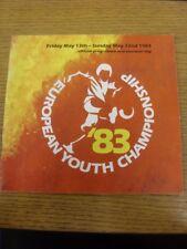 13/05/1983 UEFA European Youth Championships: In England - Czechoslovakia, Germa