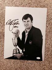 Nick Faldo (Golf) Signed 11x14 Photo - Claret trophy/ Green Jacket  - JSA COA
