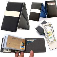 Pocket Leather Stylish wallet Credit Card holder Money clip travel for Men use