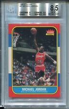 1986 Fleer Basketball #57 Michael Jordan Rookie Card RC Graded BGS 8.5 w 9