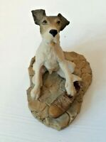 BORDER FINE ARTS FOX TERRIER WITH BOOT SIGNED D GEENTY VGC