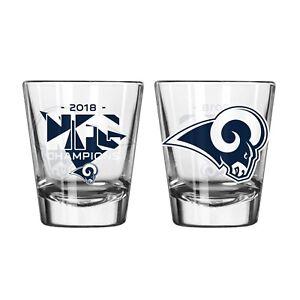 Super Bowl 53 NFC Champions Los Angeles Rams Shot Glass