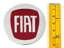 "FIAT *4 x NEW* RED Emblems 60mm (2 3/8"") WHEEL CENTER CAP STICKERS 3D DECALS"