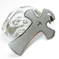 Wholesale 12pcs Mens Solid Stainless Steel Big Cross Bible Pendants 38x56mm