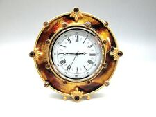 NEW JAY STRONGWATER ROUND CLOCK ENAMELED METAL SWAROVSKI CRYSTALS