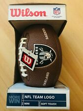 Wilson Oakland Raiders Mini Football Nfl Team Logo Soft Touch Series Rubber Ball