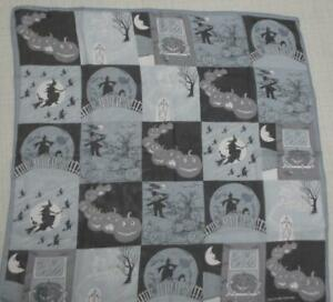 Halloween Novelty Theme Witches and Ghost Echo Scarf 20X20 Smithsonian Institute