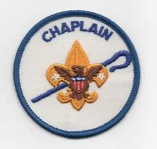 Chaplain Position Patch (1973-89), White Weave Bkgd., Clear Plastic Backing, Mt!