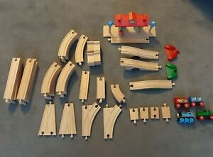 Wooden Train Track bundle Brio Thomas the Tank Engine 50+ pieces incl. Station