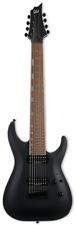 ESP LTD H-408B Black Satin BLKS Baritone 8-String Electric Guitar