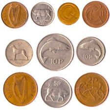 10 IRISH COINS FROM IRELAND 1 PENNY - 10 PENCE OLD COLLECTIBLE COINS TILL 2000
