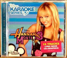 SEALED DISNEY KARAOKE SERIES Hannah Montana Vol. 3 (CD, 2009) 16 Tracks w/Book