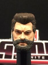 MARVEL LEGENDS PAINTED / FITTED MCU OLD LOGAN / HUGH 1:12 HEAD CAST FOR 6IN