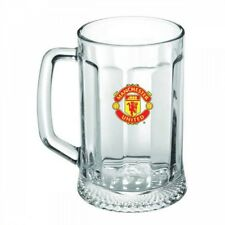 OFFICIAL Manchester United F.C. Glass Tankard Pint Beer Cup 500 ML Football Gift