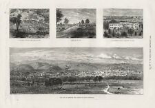 OLD ANTIQUE 1886 PRINT VIEWS OF ADELAIDE THE CAPITAL OF SOUTH AUSTRALIA b27