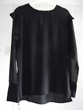New Sweewe Paris Size S Top Blouse Black