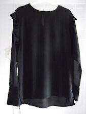 New Sweewë Paris Size M Top Blouse Black