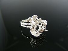 5411 Ring Setting Sterling Silver, Size 7.5, 11x9 Mm Oval Stone