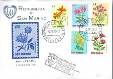 Flowers Sammarinese Stamps