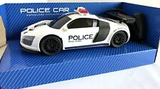 R/C RADIO CONTROL BATTERY OPERATED FULL FUNCTION POLICE PATROL CAR SCALE 1:16 A2