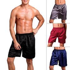 Élégant Homme Satin Soie Pyjama Short Vêtement de Loisirs Grande Taille L XL 2XL
