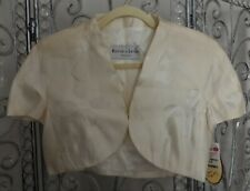 NWT Rouge a' Levres ivory silk bolero cover up womens size 10 Ret $199