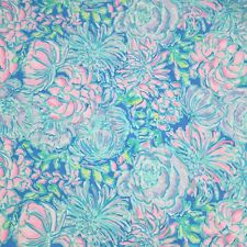 Multi In Full Bloom ~ Lilly P Poplin Cotton Fabric ~ 1 yard x 57