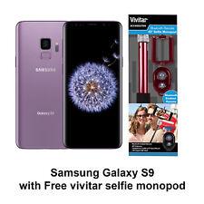 Samsung Galaxy S9 128GB Purple Dual Sim Unlocked + Free Vivitar Selfie Monopod