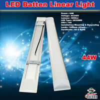 44W 1200MM 4000LM SLIM LED BATTEN LINEAR TUBE LIGHT, CEILING SURFACE MOUNTED, T8