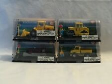 HO Scale Lot of 4 sets of Construction Vehicles, Figures and Signs