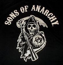 SONS OF ANARCHY Main Logo Black T Shirt Sz XL 100% Cotton Grim Reaper