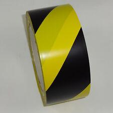 Bodenmarkierungsband schwarz gelb 50mm 33m Klebeband Warnband PVC KIP-Qualität