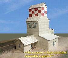 N Scale Building - Grain Elevator Cover Stock Paper Kit Pre-Cut GE2N