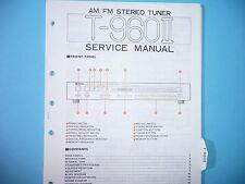 Service Manual-instrucciones para yamaha t-960 II, original